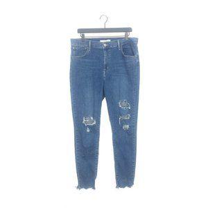 Levi's 720 High Rise Super Skinny Jeans Distressed